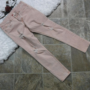 Divided Distressed Pink Skinny Jeans Size 8